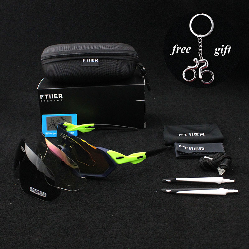 2018 brand Multi lens Cycling Glasses Polarized Riding Bicycle Sunglasses Goggles Driving Eyewear Outdoor Sports Sunglasses JAW 2017 ftiier multi lens cycling glasses polarized riding bicycle sunglasses goggles driving eyewear outdoor sports sunglasses