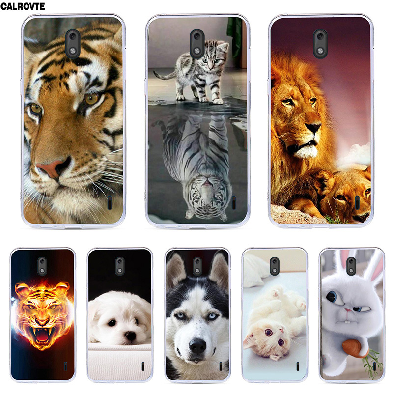 For <font><b>Nokia</b></font> <font><b>2</b></font> TA-1029 TA-1035 Case Silicone Paint Fashion Patterned TPU Soft Cases <font><b>Cover</b></font> For <font><b>Nokia</b></font> <font><b>2</b></font> <font><b>Back</b></font> <font><b>Covers</b></font> Shell Bag image