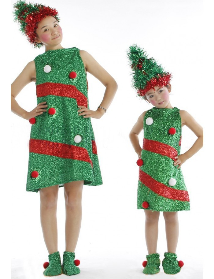 ao nuevo invierno verde rbol de navidad disfraces para nias nios chlidren en disfraces y accesorios nios de novedad y de uso especial en