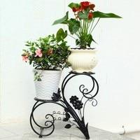 European-style balcony  wrought iron flower pot Shelf flower pot Convenient moved a flower pot