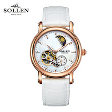 Watch Women Top brand luxury Fashion Casual Mechanical Transparent watch Lady relojes mujer women wristwatches Girl Dress clock
