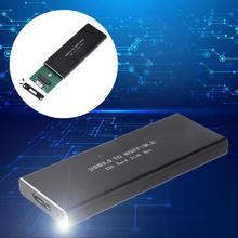 M.2 NGFF to USB 3.0 SSD SATA HDD External Enclosure Case Adapter Aluminium Box hdd box usb 3.0 mobile usb 2 0 sata 2 5 hdd enclosure light blue