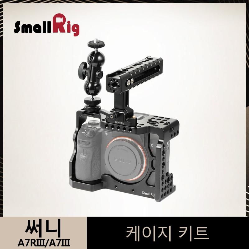 SmallRig a7m3 a7iii Cámara Cage Kit para Sony A7RIII/A7III jaula con la OTAN manejar + doble Ballheads brazo de extensión kit-2103