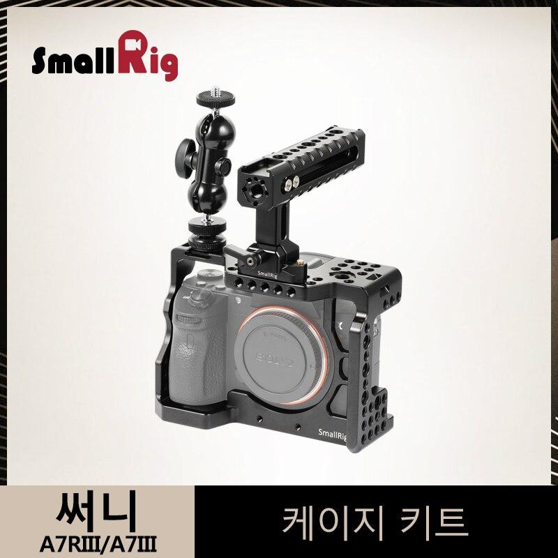 SmallRig a7m3 a7iii Kit Gaiola Câmera para Sony A7RIII/Ballheads A7III Gaiola Com a Nato Alça + Duplo Braço de Extensão kit-2103