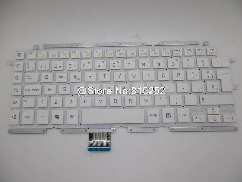 Laptop Keyboard For LG 13Z930 13Z935 ZD360 V138967AUS V138967AK1 AEW73409906 HMB8130ELB13 White Without Frame Spanish KR Korea laptop keyboard for acer silver without frame norwegian nor v 121646ck2 nw aezqsw00110