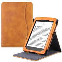 BOZHUORUI étui sur pied pour Kindle Paperwhite eReader-cuir PU haut de gamme multi-visualisation lecture mains libres avec sommeil/réveil automatique