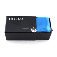Chuse 100pcs/box Disposable Hygiene Tattoo Clip Cord Machine Covers Bags Blue Tattoo Supply Microblading & Body Art Tattooing