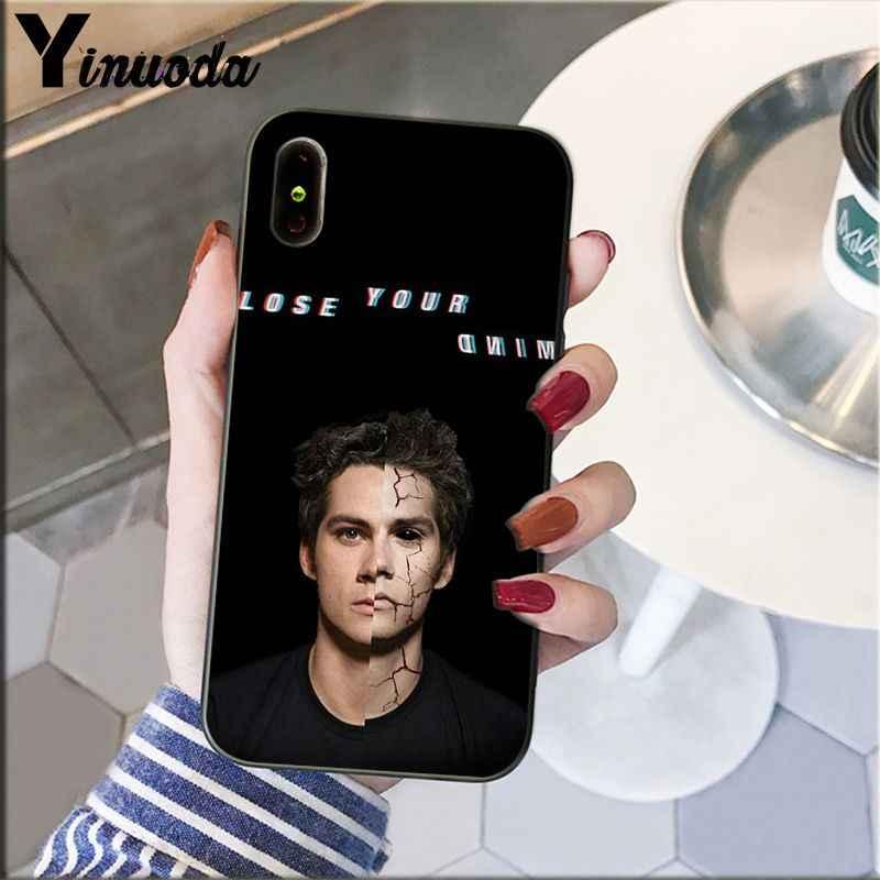 ينودا ديلان أوبراين التين وولف وصل حديثا أسود هاتف محمول حقيبة لهاتف أي فون 8 7 6 6S Plus 5 5s SE XR X XS MAX Coque Shell