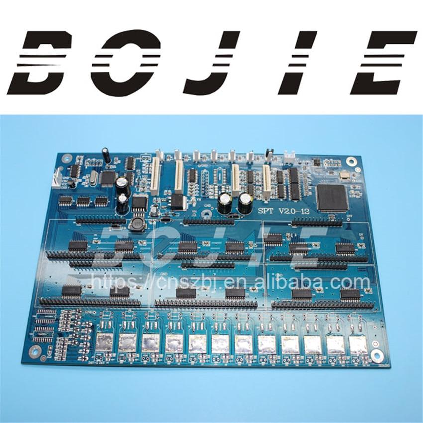 Zhongye eco solvent printer for seiko 12h print head board original printer printhead mainfold eco solvent print head capping cover for roland rs640 740 sj1045ex sj1000 vp300 vp540 xc540