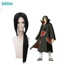 Wholesale Price NARUTO Uchiha Itachi Long Hair Cos Anime Wig Cosplay Costume Wigs Free Shipping