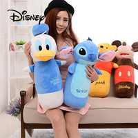 Disney 60CM Plush Toy Hand Puppet Winnie The Pooh Stich Donald Duck Mickey Mouse Stuffed Toys For Children's Birthday Gifts