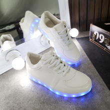 Color Led White Sneakers EUR35-44 Plus Size