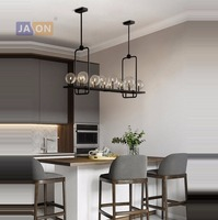 g4 led Loft Iron Glass Magic Bean LED Lamp LED Light.Pendant Lights.Pendant Lamp.Pendant light For Dinning Room Bar Store