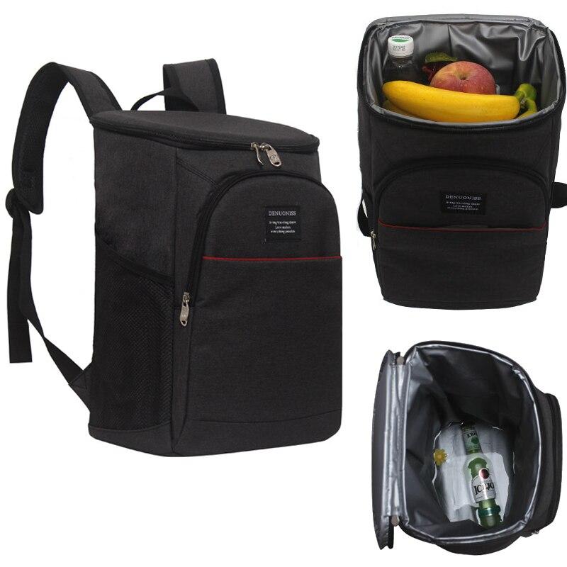 DENUONISS Brand Backpack 20L Thermal Black Cooler Bag Backpack Trave Waterproof Beer Fresh Keeper Insulation mochila termica Men
