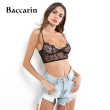 8bb1a8cb55974b 2018 Women Sleeveless Lace Top Femme Vest Bustier Black Strappy Top Lace  Sexy Colete European Style Cropped Halter Top