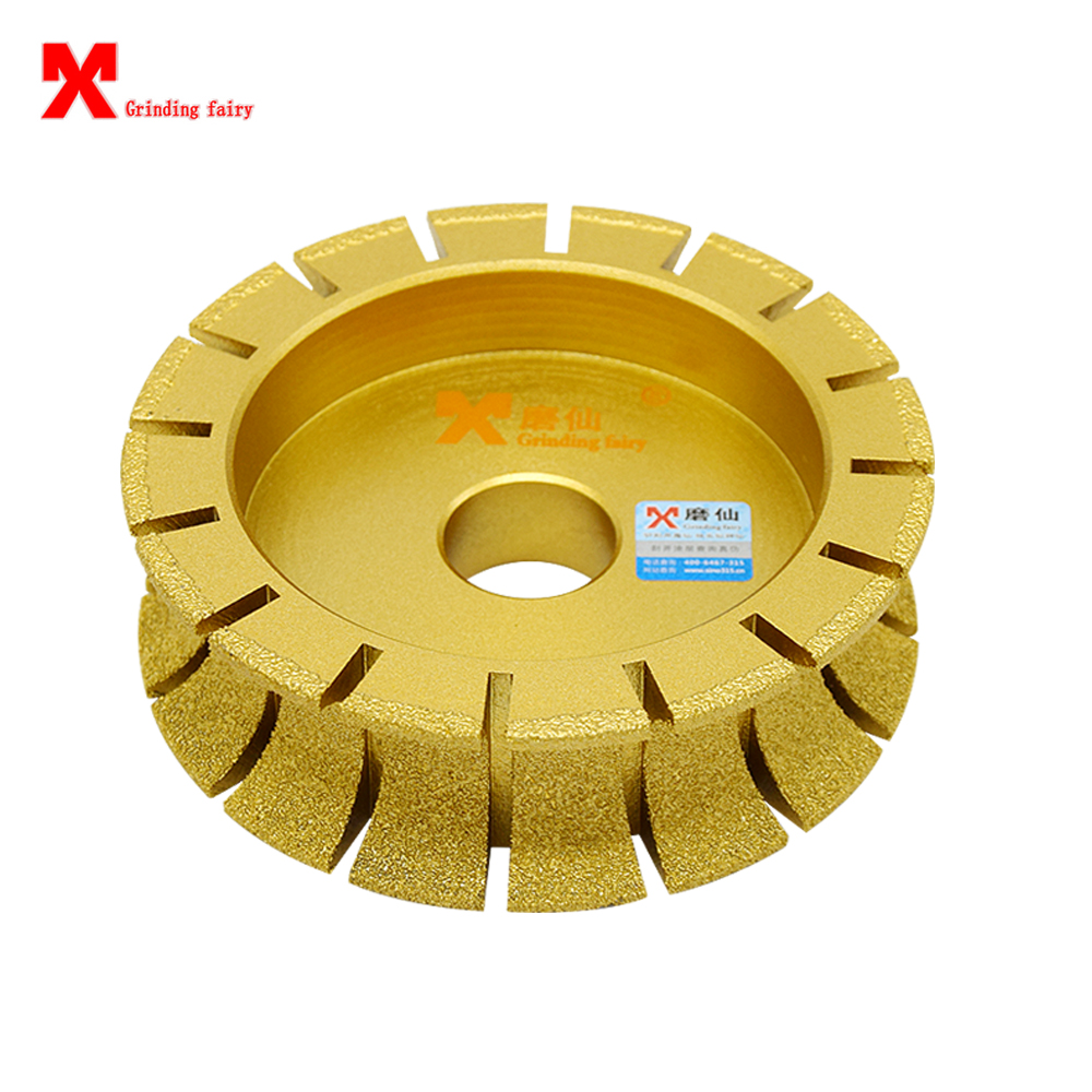 MX Brasage diamant marbre bois angle grinder meule demi-cercle disque de meulage marbre plaque en céramique roue brasage outils