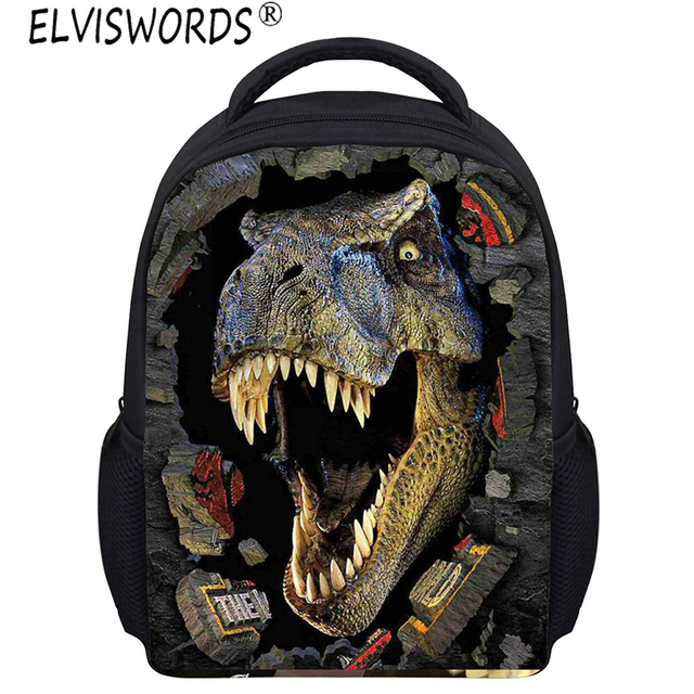 ELVISWORDS Boys 3D Painting School Bags Cool