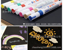 Sipa Farbe Marker 1mm 12 Farben set Godl/Silber/Rosa/Weiß Mark auf Alles
