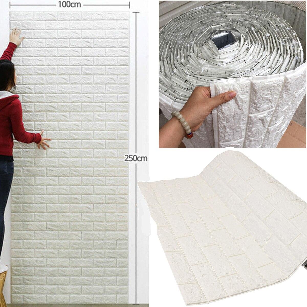Pegatinas de pared 3D de espuma PE patrón de ladrillo impermeable autoadhesivo papel pintado para habitación decoración del hogar para niños pegatinas de sala de estar