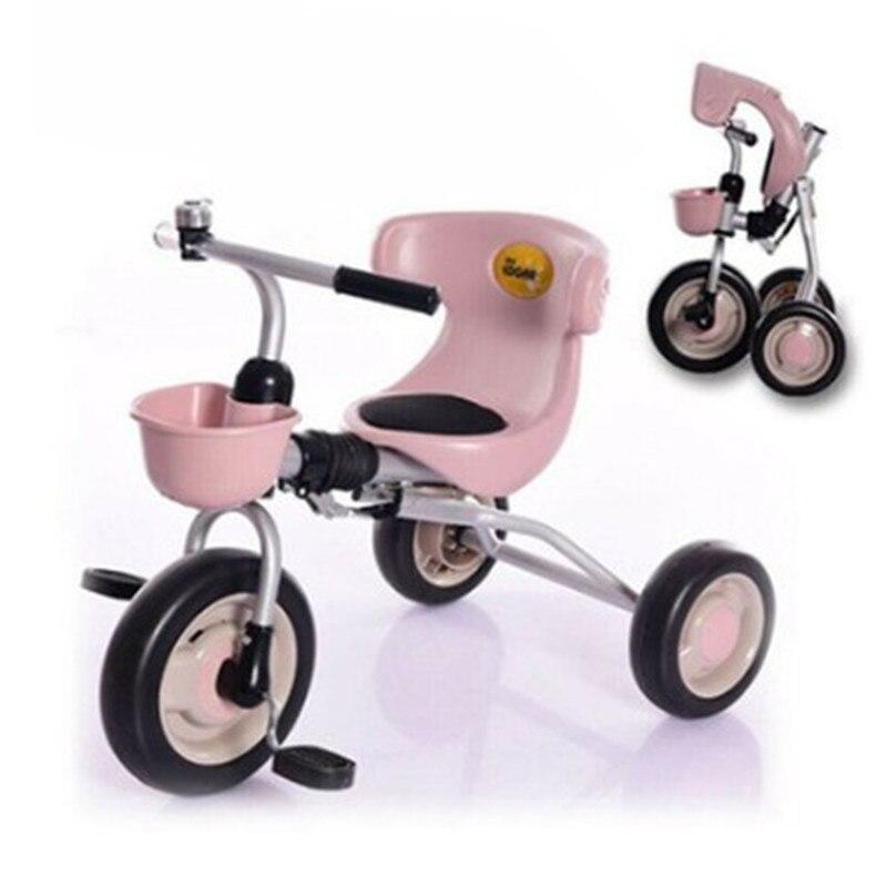 Vélo tricycle pour enfants 1-3 ans léger pliant bébé poussette enfant bébé vélo