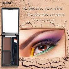 Qibest Палетка кремовых теней для бровей косметический усилитель