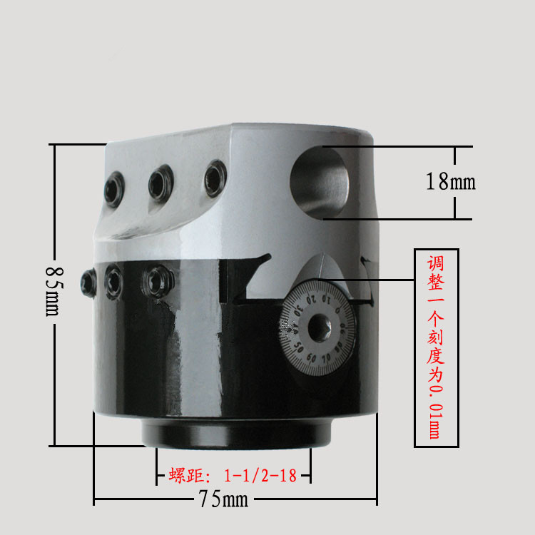 3'' Precision Boring Head with R8 Shank 1-1/2-18 Threads New high precision rbh90 122mm twin bit rough boring head used for deep holes 0 02mm grade
