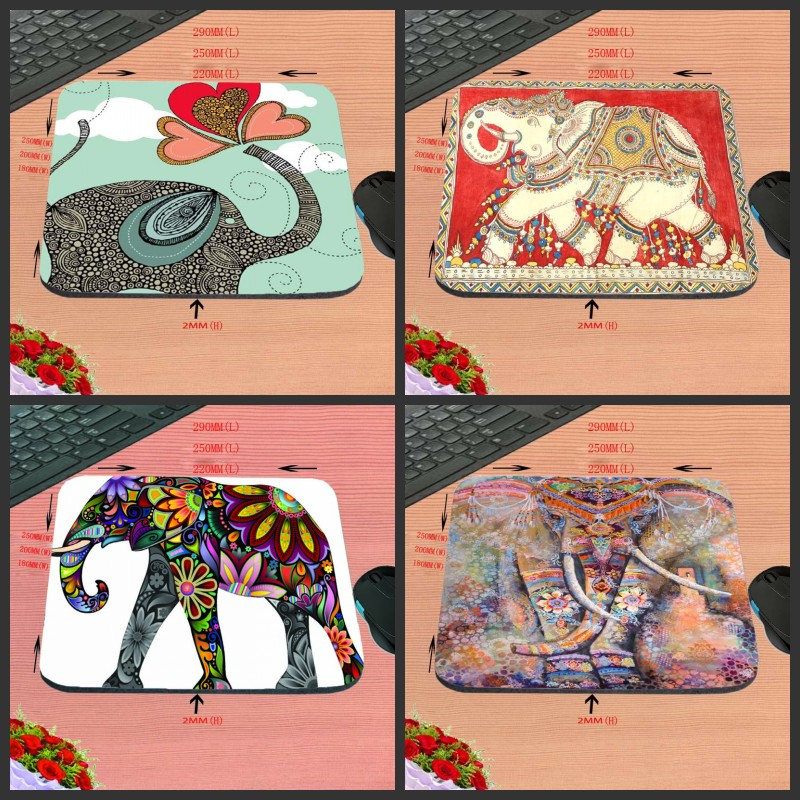 Top Sell New Arrival Shining Gold Elephant Funny Play Customized Mouse Pad Computer Notebook Mice Mat Non-Slip Rubber Mousepad