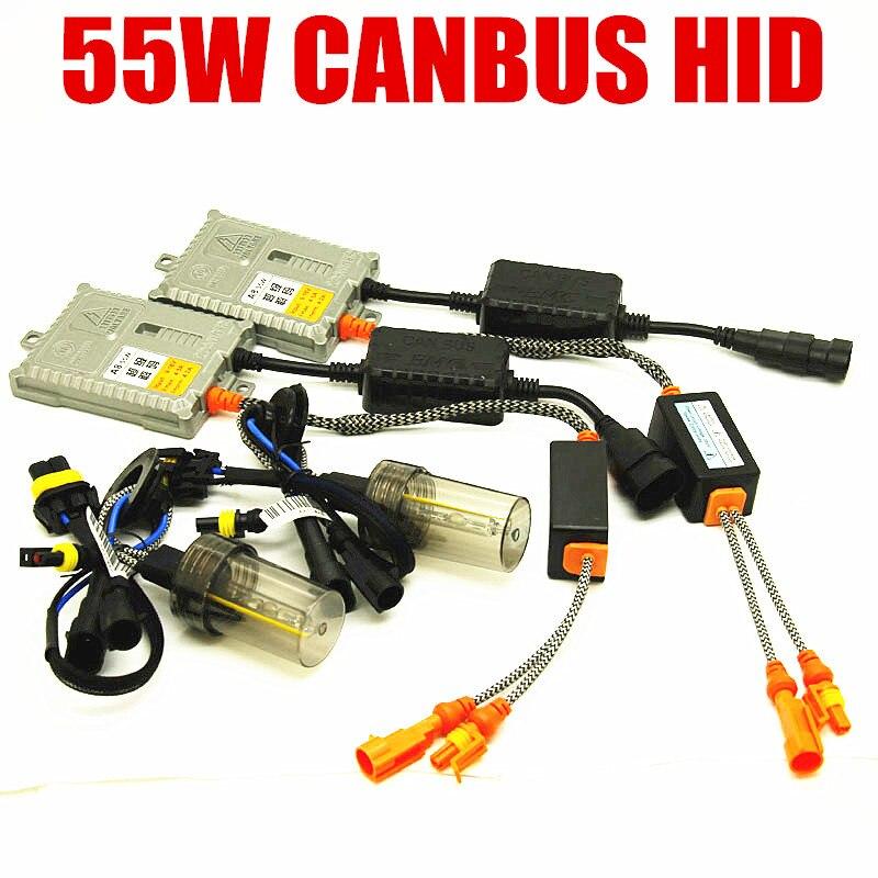 55 W Canbus CACHÉ kit xénon H1 H3 9012 H7 H11 9005 9006 5500 k sans erreur phare