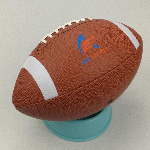 ActEarlier Bolas Esportivas Tamanho Oficial 9 Bola de Rugby de couro PU  Para O Treinamento De 0156b0a4b4ad9