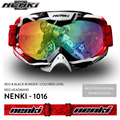 NENKI Men Women Motocross Off-Road Dirt Bike ATV DH MX Googles Motorcycle Racing Eyewear Skiing Snowboard Glasses, Colorful Lens