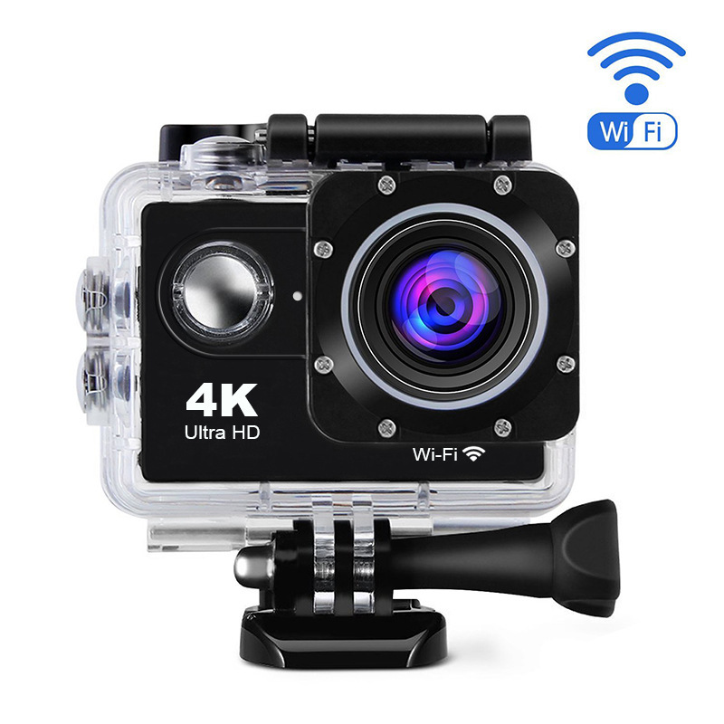 HYBON Mini 4K Action Camera Waterproof Underwater Camera Remote WiFi 2.0 Cam Underwater 30m Action Camera Without Remote Control f88 action camera black