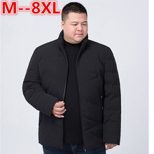 Фотография PLus size 10XL 8XL 6XL 5XL 2017 Hot Sale Men Winter Splicing Cotton-Padded Coat Jacket Winter Parkas High Quality large big size