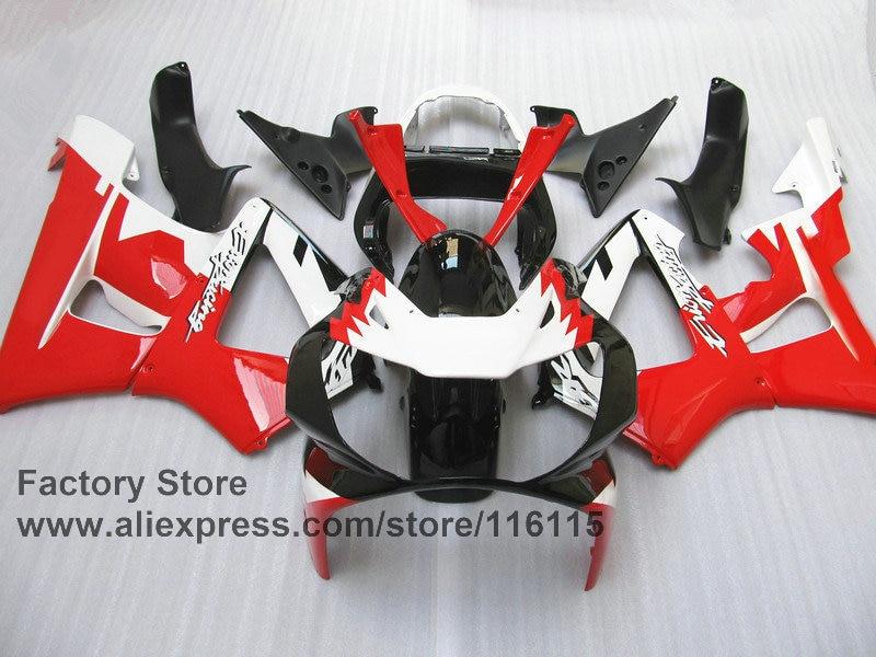Пользовательские Бесплатная мотоцикл обтекатель Набор для Honda CBR929RR 2000 2001 CBR 929RR 00 01 CBR 900RR красный белый обтекатели