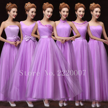 Six Kinds of Neckline Bridesmaid Dress Long Lovely Prom Gown Elegant Tulle Wedding Party Dress Graceful