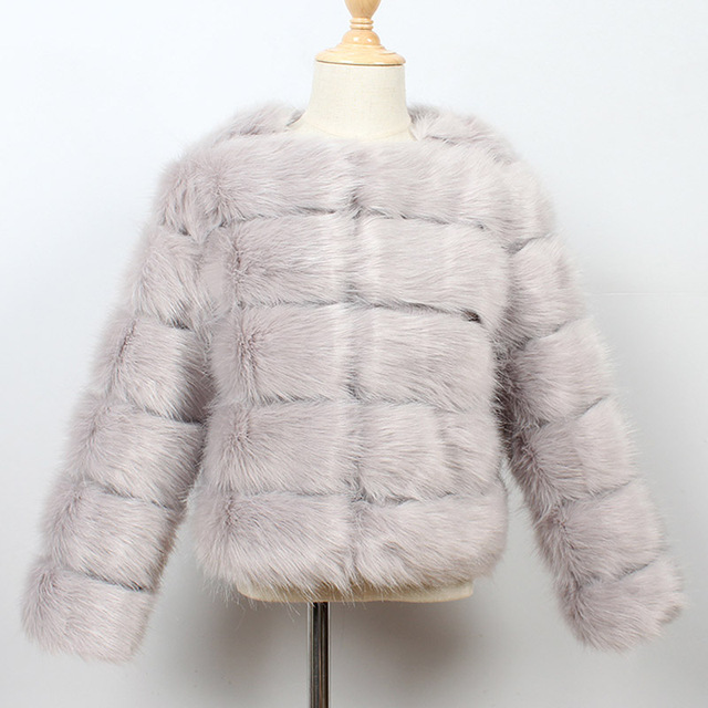 Gray Kids fur coat rex rabbit 5c64fecb8a047