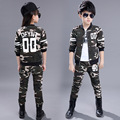 2016 Kids clothing set spring Autumn Boys Girls suits Camouflage Army military tactical cargo pants & sweatshirt uniform twinset