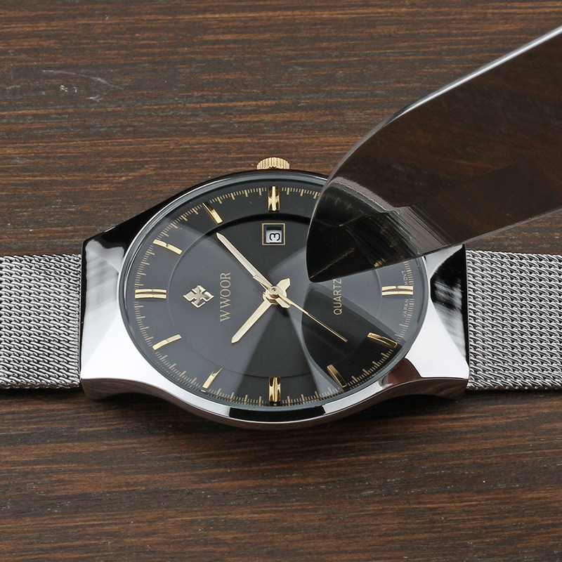 Image 4 - relogio masculino WWOOR  Gold Watch Men Ultra Thin Classic Male Wristwatch Business Golden Mens Watches Top Brand Luxury 2019-in Quartz Watches from Watches