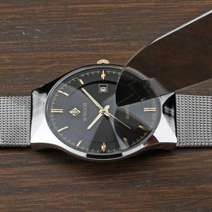 Image 4 - relogio masculino WWOOR  Gold Watch Men Ultra Thin Classic Male Wristwatch Business Golden Mens Watches Top Brand Luxury 2019