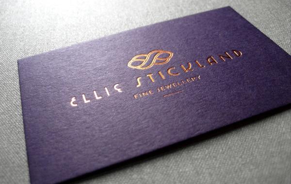 2016 New Cardboard Purple Color Custom Business Card Gold Foil