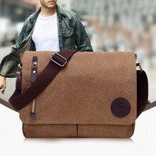цена на Hot Sale Bags for Men Vintage Canvas Schoolbag Shoulder Messenger Bag Laptop Bags Best Sale