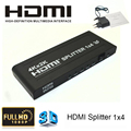Full HD 1080P 1.4V HDMI 1X4 HDMI Splitter 1 In 4 Out HDMI Video Audio Converter Support 4kx2k 3D,CEC For HDTV With Power Adapter