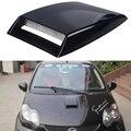 Negro/plata/blanco pegatinas de coche universal car air flow decorativo cubierta de ventilación del capó campana scoop de admision turbo decorar