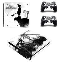 Kingdom Hearts наклейка PS4 Slim кожи Стикеры для Sony Игровые приставки 4 консоли и контроллера для Dualshock 4 PS4 Slim Стикеры винил