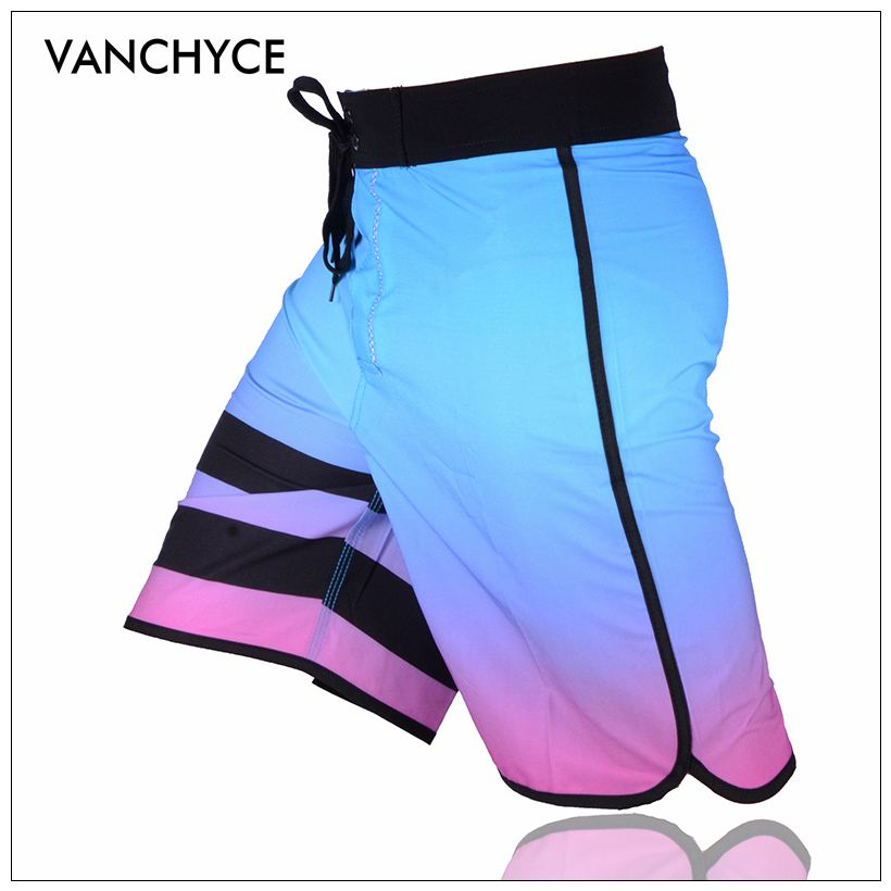 VANCHYCE Solid Men's   Shorts   Beach   Shorts   Men Bermuda   Short   Quick Dry Silver Men's Boardshorts Board   Shorts   Brand Swimwear Men