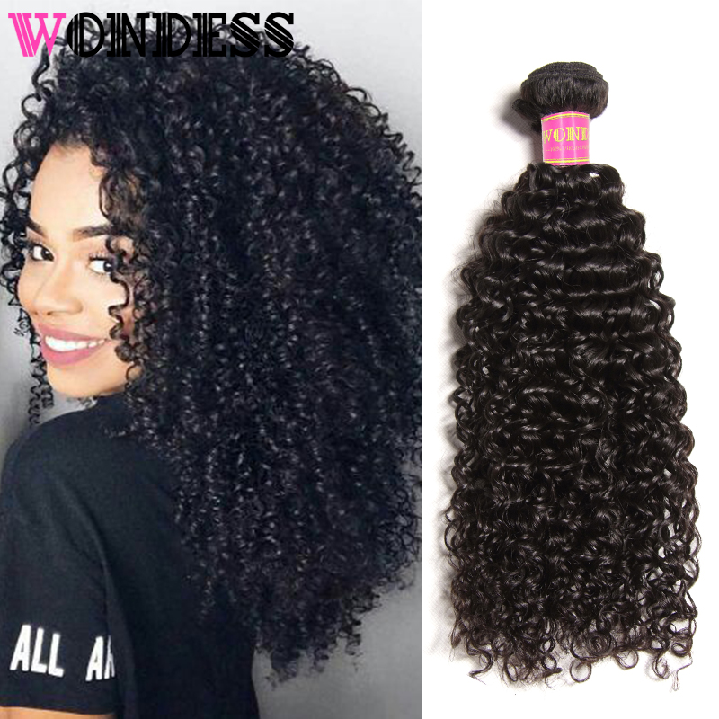 Wondess Hair Malaysian Weaving Curly Bundles 1 Piece Natural Color Virgin Hair 8-26inch Unprocessed Human Hair For Women ...