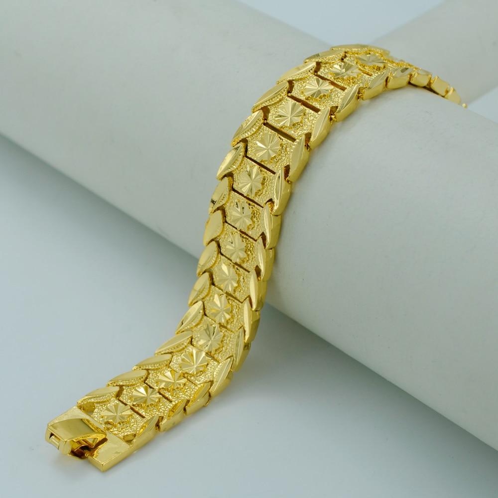 Anniyo 20.5CM,Gold Bracelet for s