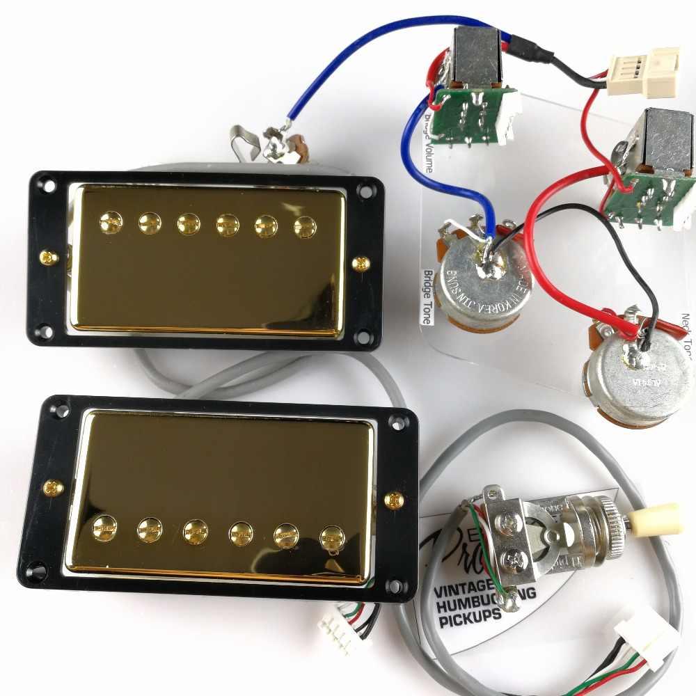 1 set lp standard probucker alnico electric guitar humbucker pickups with pro wiring harness for epi  [ 1000 x 1000 Pixel ]