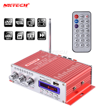 NKTECH Amplificador de Audio Digital de alta potencia para coche, reproductor de Radio FM Hi Fi, HY 504, 4 canales x 45W, compatible con SD, USB, DVD, MP3, motocicleta y vehículo