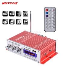 NKTECH HY 504 Âm Thanh Xe Ô Tô Cao Cấp Bộ Khuếch Đại Kỹ Thuật Số 4CH x 45W Hi Fi Radio FM Hỗ Trợ Nghe SD USB DVD MP3 Xe Máy Xe