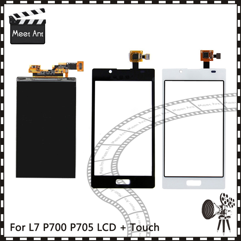 New High Quality 4.3'' For LG Optimus L7 P700 P705 Lcd Display With Touch Screen Digitizer Sensor